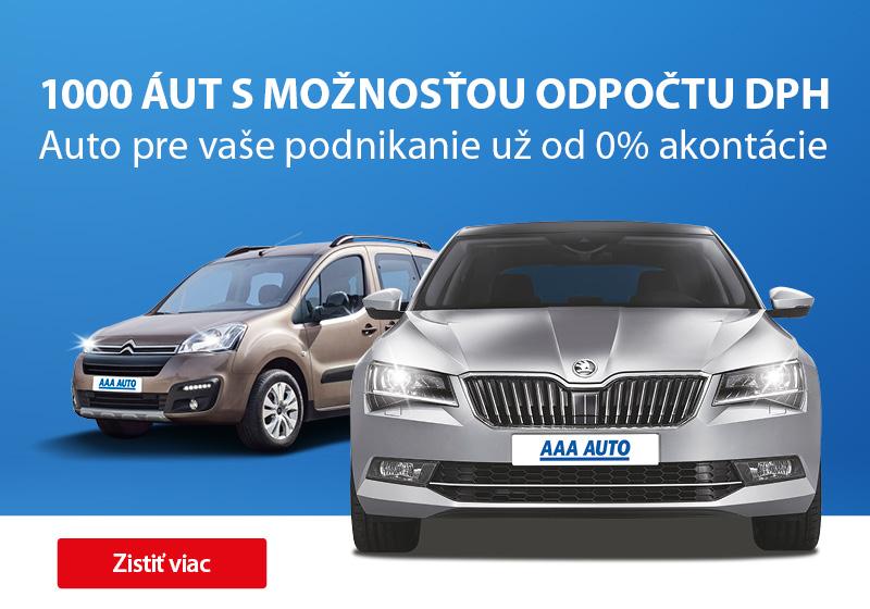 1000 áut s možnosťou odpočtu DPH